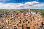 Aerial view of Siena — Stock Photo