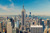 Manhattan aerial view — Stock Photo