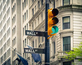 Wall street, New York — Stock Photo