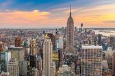 曼哈顿鸟瞰图 — 图库照片