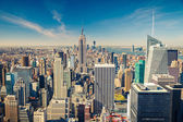 Manhattan aerial view — Stock Photo