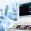 ICU with ECG monitor — Stock Photo #23112620