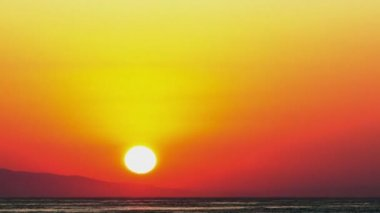 Sunset over sea — Stock Video