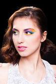 Woman with bright stylish make-up.  — Stock Photo