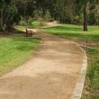 Footpath in empty park — Stock Photo