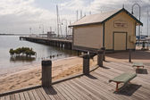 Hastings Jetty Fish Shed — Stock Photo