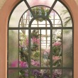 Stock Photo: Window in conservatory house