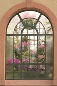 Window in conservatory house — Stock Photo