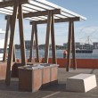 BBQ area in Docklands — Stock Photo