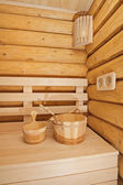 Wooden sauna accessory — Stock Photo