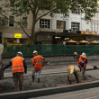 Stock Photo: Concreting tram platform