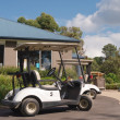 Stock Photo: Golf cart parked