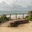 Stock Photo: Bench at Zeally Bay