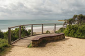 Bench at Zeally Bay — Stock Photo