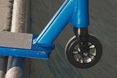 Scooter on ramp closeup — Stock Photo