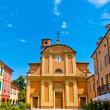 Church of Campagnola Emilia, north of Italy — Stock Photo #12489891