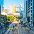 Streets and traffic in Hong Kong financial center — Stock Photo #13815743