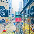 Streets and traffic in Hong Kong financial center — Stock Photo