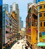 Hong Kong downtown street view — Stock Photo