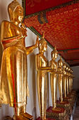 Buddha statues in Wat Pho temple, Bangkok — Stock Photo