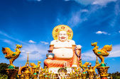 Smiling Buddha statue in Koh Samui, Thailand — Stock Photo