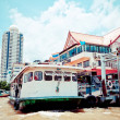boot in de chao praya rivier, bangkok — Stockfoto