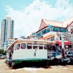 łódź w rzeki praya chao, bangkok — Zdjęcie stockowe