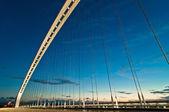 Moderní pozastavenou most v reggio emilia - itálie — Stock fotografie