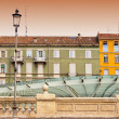Urban contrasts in Parma, Italy — Stock Photo