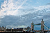 Tower Bridge and cloudscape, London, UK — Stock Photo