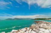 Mediterranean sea in Liguria, Italy — Stock Photo