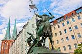 Saint george walki w berlinie pomnik smoka — Zdjęcie stockowe