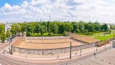 Memorial to Berlin Wall in Bernauer Strasse, Berlin — Stock Photo