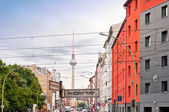 Street view in Brunnenstrasse, Mitte district, Berlin — Stock Photo