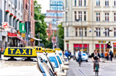 Taxi cabs waiting in Berlin downtown, Germany — Stock Photo