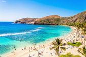 Snorkeling paradise Hanauma bay, Oahu, Hawaii — Stock Photo