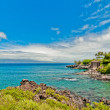 Kaanapali Beach, famous tourist destination in Maui, Hawaii — Stock Photo