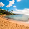 Kaanapali Beach, famous tourist destination in Maui, Hawaii — Stock Photo #40283183