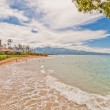 Spreckelsville Beach, famous tourist destination in Maui, Hawaii — Stock Photo