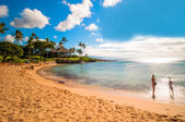 Kaanapali Beach, famous tourist destination in Maui, Hawaii — Foto de Stock