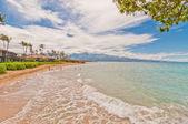 Spreckelsville Beach, famous tourist destination in Maui, Hawaii — Photo