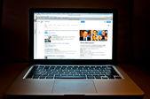 Laptop showing Google web search — Stock Photo