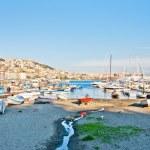 Naples bay view from Mergellina with Mediterranean sea - Italy — Stock Photo #44274781