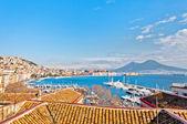 Naples - Italy  panoramic view from Mergellina — Stock Photo