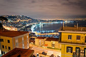 Naples bay view from Posillipo with Mediterranean sea - Italy — Стоковое фото