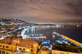 Naples bay view from Posillipo with Mediterranean sea - Italy — Stock Photo