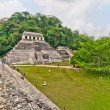 Постер, плакат: Tourists visit Palenque ruins in Chiapas Mexico