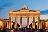 Tourists in Brandenburg Gate - Berlin, Germany — Stock Photo