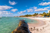 Famous Playa del Norte beach in Isla Mujeres, Mexico — Foto Stock