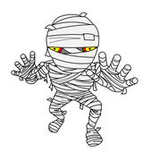 Halloween Mummy comic — Stock Photo
